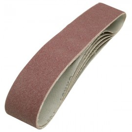 5 bandes abrasives 50 x 686 mm grain 80 Silverline
