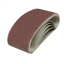 5 bandes abrasives 60 x 400 mm  Silverline