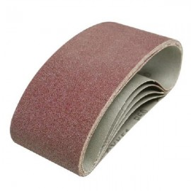 5 bandes abrasives 75 x 457 mm Silverline