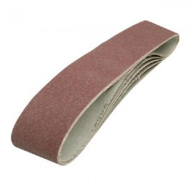 5 bandes abrasives 100 x 915 mm grain 80 Silverline